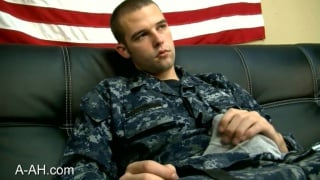 Navy Sailor jerks off