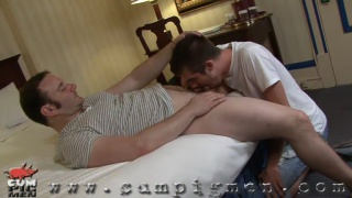 mike gets his cock worshipped
