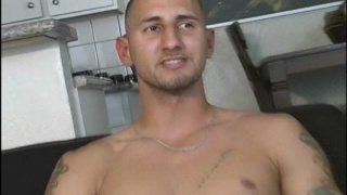 Naked Latino thug with defined hot body