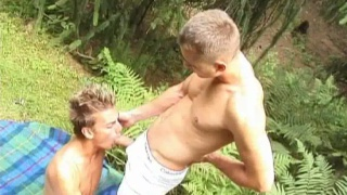 Hot Czech boys have gay sex outdoors