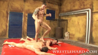 Hard and rough nude male wrestling and gay sex