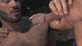 sounding virgin taking his first rod in his cock