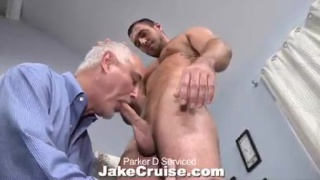 Parker gets his cock serviced