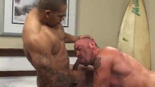 Muscle men fucking bareback