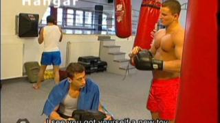 Muscle men in 15 man orgy