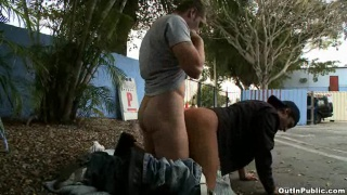 Outdoor public gay sex