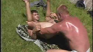 kinky action with gay strawberry blonde