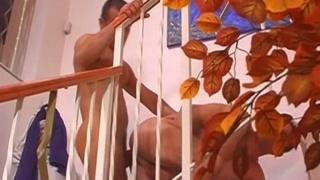 european gay couple having sex