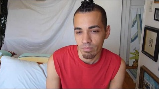 hard amateur Latino jerks off