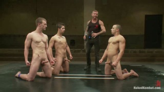 Three Guys Wrestling Naked