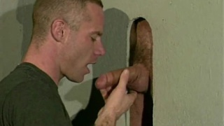Gay gloryhole big cock blowjob