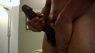 Black Muscle Hunks masturbates
