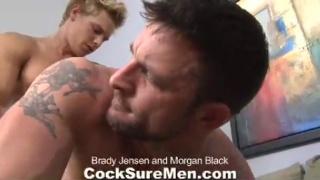 Tattooed muscle studs fuck
