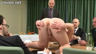 Footballer in naked physical examination