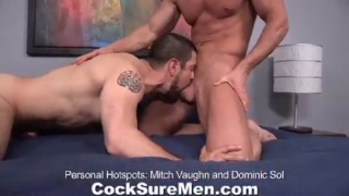 Muscle bottom takes an athletic stud's cock