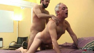 Older guys fucking on the bed