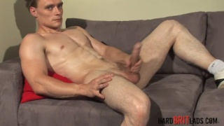 Hard straight British muscle guy with massive big cock
