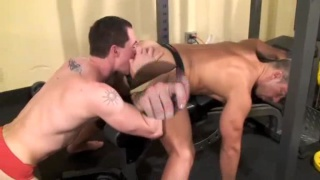 Dominik slobbering and slurping on Jasons cock