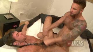 Jonathan jackhammers Scott's hole