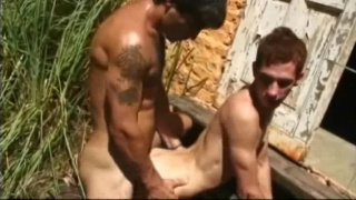 Three guys catch hot men fucking