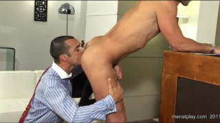 Office studs having sex during their break