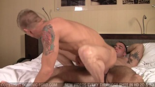 Two hot gay boyfriends fuck at home