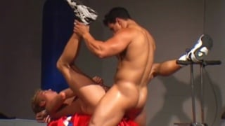 Bodybuilders having hot sex