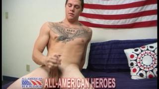 US army stud jerks off