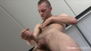 English amateur with hairy chest and big cock