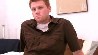 Redhead guy with uncut dick gets handjob