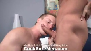 Riley gets his big cock sucked
