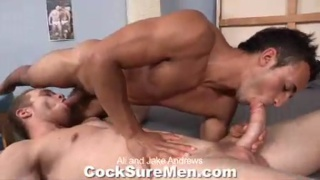 cock in Jake's hairy hole