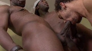 Black thugs in hot gay group sex orgy