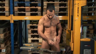 Turkish hunk stroking dick
