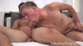 Blond Guy's First Blowjob