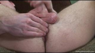 Jayden Grey strokes cock