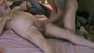 Making his Daddy to cum