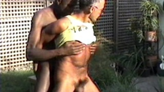Daddy sucks a black guy's cock