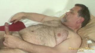 Daddy Stroking Fat Bear Cock