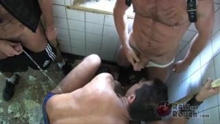Bareback Bathroom Sex
