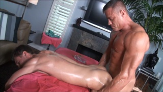 Filling Sweet Ass on Massage Table