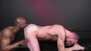 Black Dick Ravaging Raw White Hole