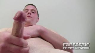 Nice Boy Plays with Foreskin