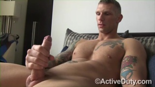 Hung Tatted Stud's First JO Vid