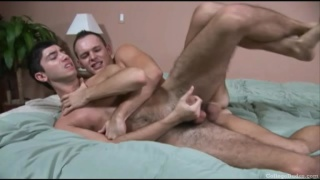 Two College Guys Boning