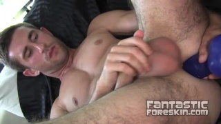 Cute Guy Working Foreskin Dick