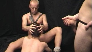 Hunky Master Force Feeds Slave