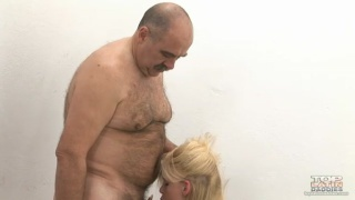 Older Man Gets Head from Woman