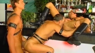 Buff Leather Man Threeway