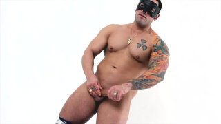 Masked Man Jerks Cock